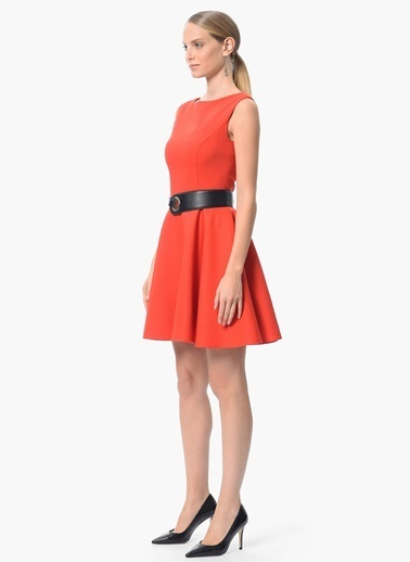 NetWork Kloş Elbise Kırmızı